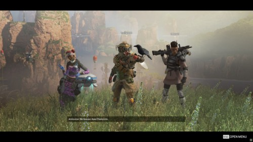 Champion screenshot of Apex Legends video game interface.