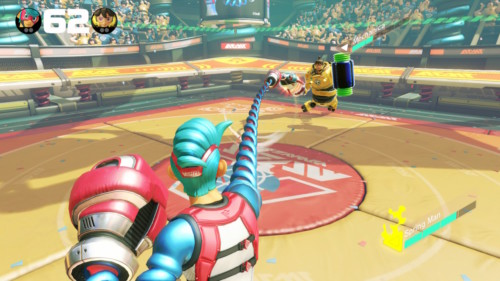 Attack screenshot of ARMS video game interface.