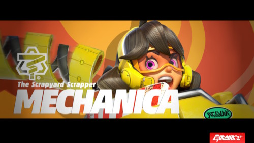 Character intro screenshot of ARMS video game interface.