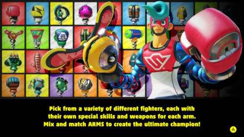 Ultimate champion screenshot of ARMS video game interface.