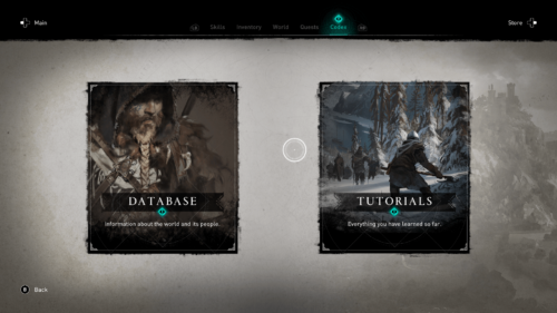 Codex screenshot of Assassin's Creed Valhalla video game interface.