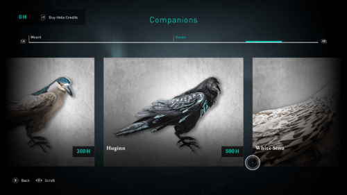 Companions screenshot of Assassin's Creed Valhalla video game interface.