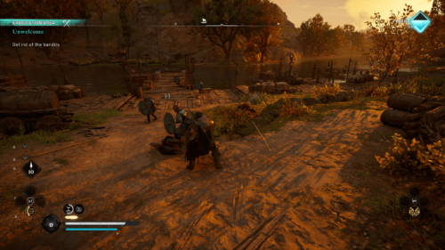 Hit screenshot of Assassin's Creed Valhalla video game interface.