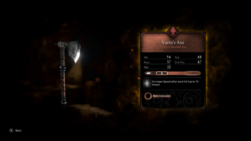 Superior bearded axe screenshot of Assassin's Creed Valhalla video game interface.