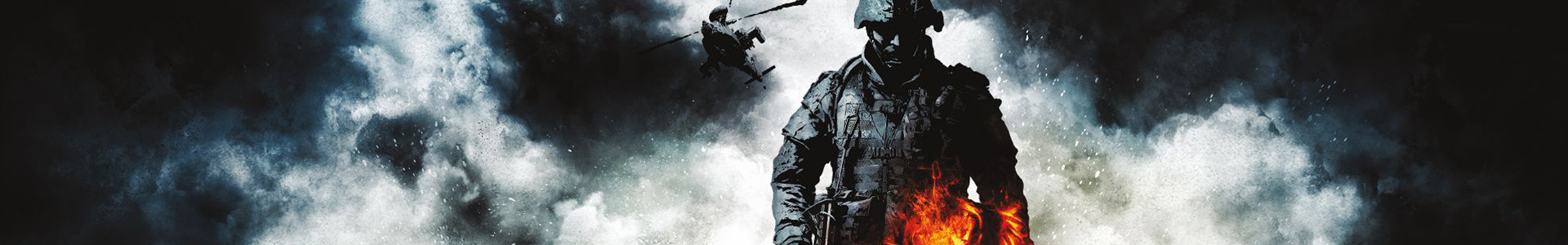 Banner media of Battlefield: Bad Company 2 video game.