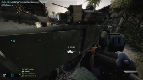 Enter vehicle screenshot of Battlefield: Bad Company 2 video game interface.