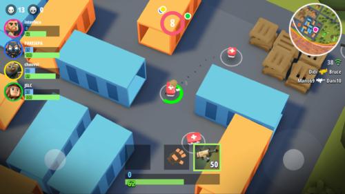 Heal screenshot of Battlelands Royale video game interface.