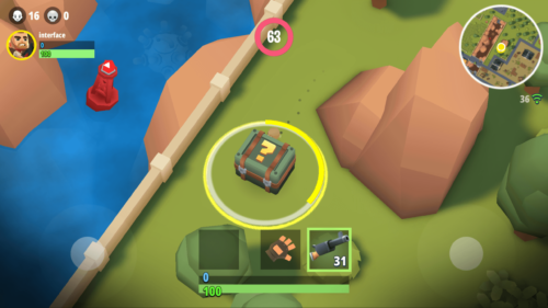 Loot box screenshot of Battlelands Royale video game interface.