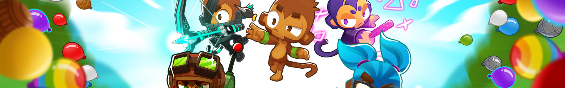 Banner media of Bloons TD 6 video game.