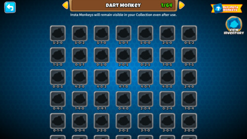 Collection screenshot of Bloons TD 6 video game interface.