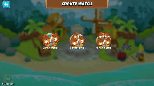 Create match screenshot of Bloons TD 6 video game interface.