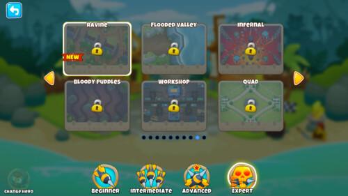 Expert screenshot of Bloons TD 6 video game interface.