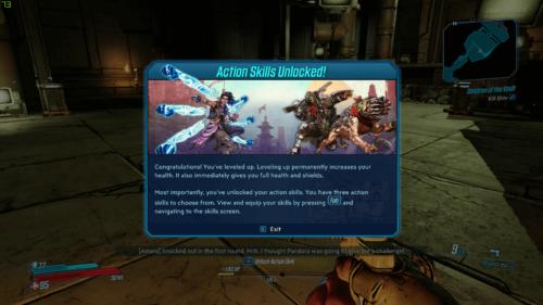 Celebration screenshot of Borderlands 3 video game interface.