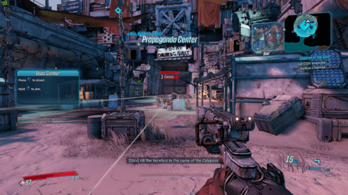 HUD screenshot of Borderlands 3 video game interface.