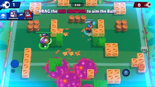 Aim the Ball screenshot of Brawl Stars video game interface.
