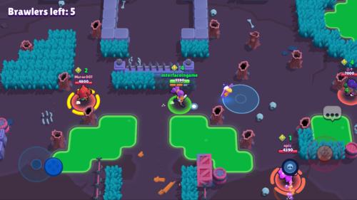 Brawlers left screenshot of Brawl Stars video game interface.