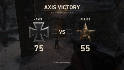 Axis victory screenshot of Call of Duty: WWII video game interface.