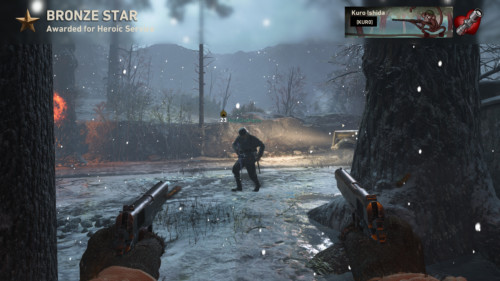Bronze star screenshot of Call of Duty: WWII video game interface.