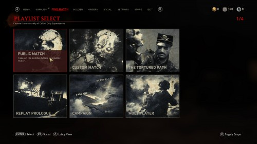 Find match screenshot of Call of Duty: WWII video game interface.