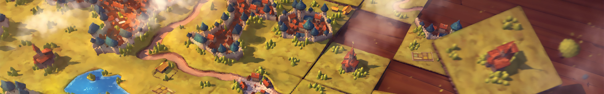 Banner media of Carcassonne Tiles and Tactics video game.