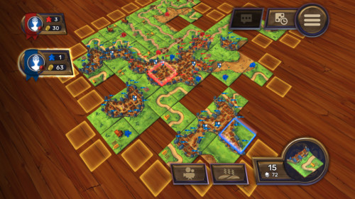 City screenshot of Carcassonne Tiles and Tactics video game interface.