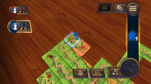 Points screenshot of Carcassonne Tiles and Tactics video game interface.