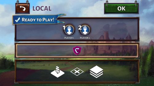 Ready to play screenshot of Carcassonne Tiles and Tactics video game interface.