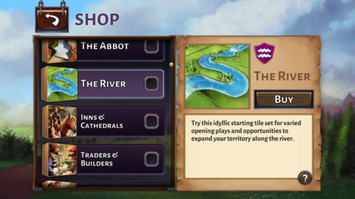 Shop screenshot of Carcassonne Tiles and Tactics video game interface.
