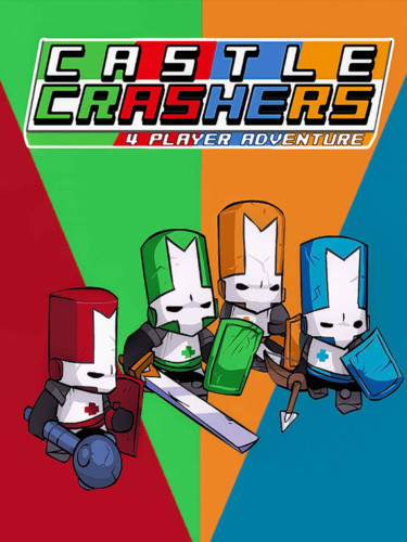 Cover media of Castle Crashers video game.