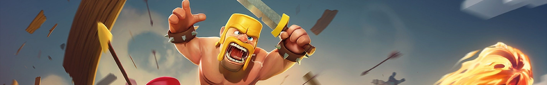 Banner media of Clash of Clans video game.