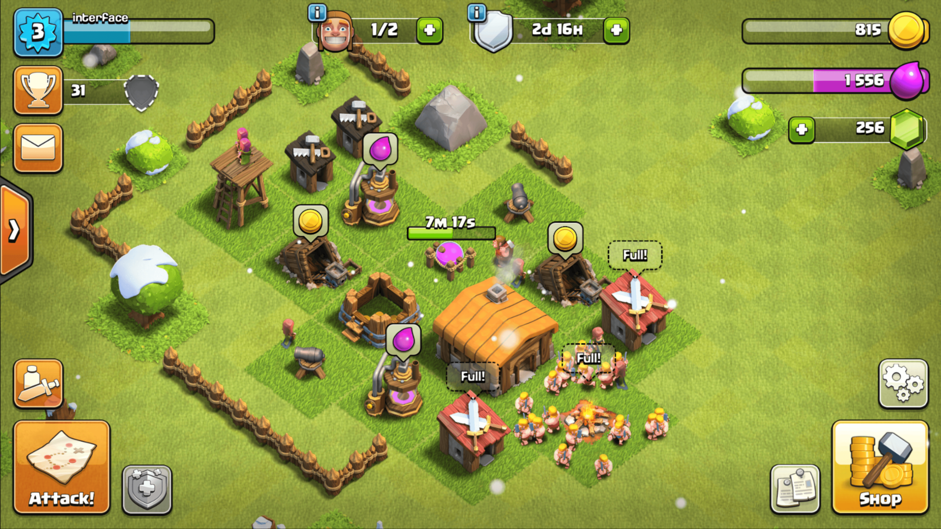 Collect resources screenshot of Clash of Clans video game interface.