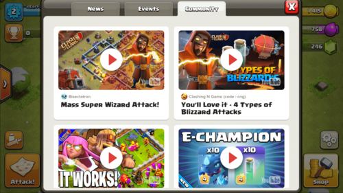 Community screenshot of Clash of Clans video game interface.