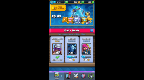 Daily Deals screenshot of Clash Royale video game interface.