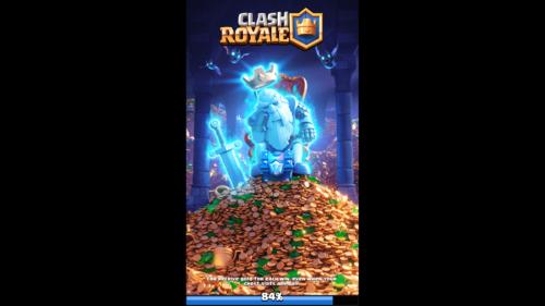 Loading screenshot of Clash Royale video game interface.