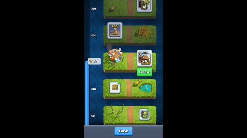 Rewards screenshot of Clash Royale video game interface.