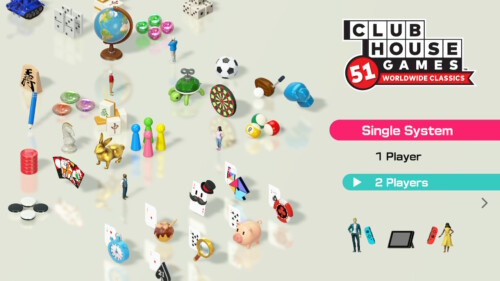 Choose Player screenshot of Clubhouse Games: 51 Worldwide Classics video game interface.