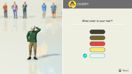 Color Selection screenshot of Clubhouse Games: 51 Worldwide Classics video game interface.