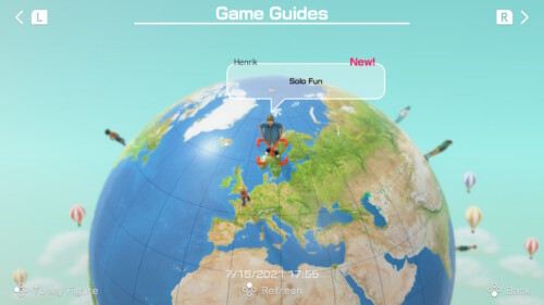 Game Guides screenshot of Clubhouse Games: 51 Worldwide Classics video game interface.