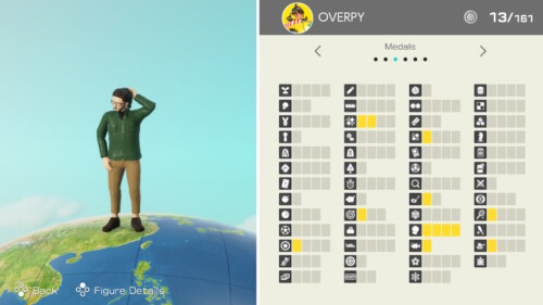 Medals Earned screenshot of Clubhouse Games: 51 Worldwide Classics video game interface.