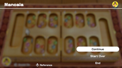Pause screenshot of Clubhouse Games: 51 Worldwide Classics video game interface.