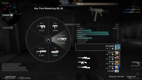 Buy weapon screenshot of Counter-Strike: Global Offensive video game interface.
