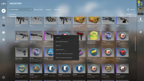 Edit weapon screenshot of Counter-Strike: Global Offensive video game interface.