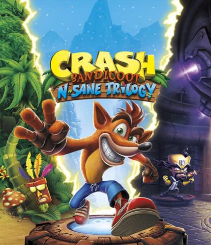 Cover media of Crash Bandicoot N. Sane Trilogy video game.