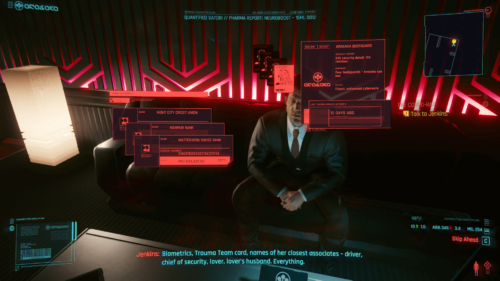 Bank account screenshot of Cyberpunk 2077 video game interface.