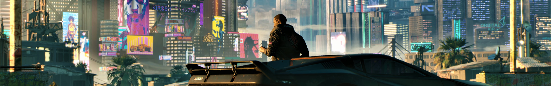 Banner media of Cyberpunk 2077 video game.