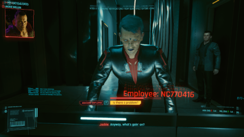 Call screenshot of Cyberpunk 2077 video game interface.
