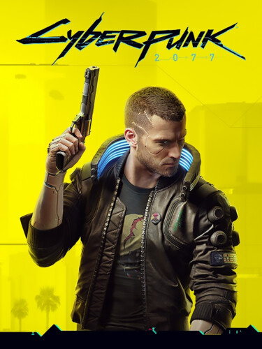 Cover media of Cyberpunk 2077 video game.