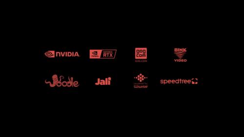 Logo screenshot of Cyberpunk 2077 video game interface.