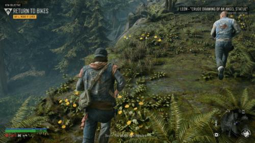 HUD screenshot of Days Gone video game interface.