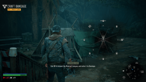 Ability Wheel screenshot of Days Gone video game interface.